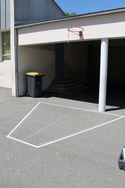 La zone de basket.