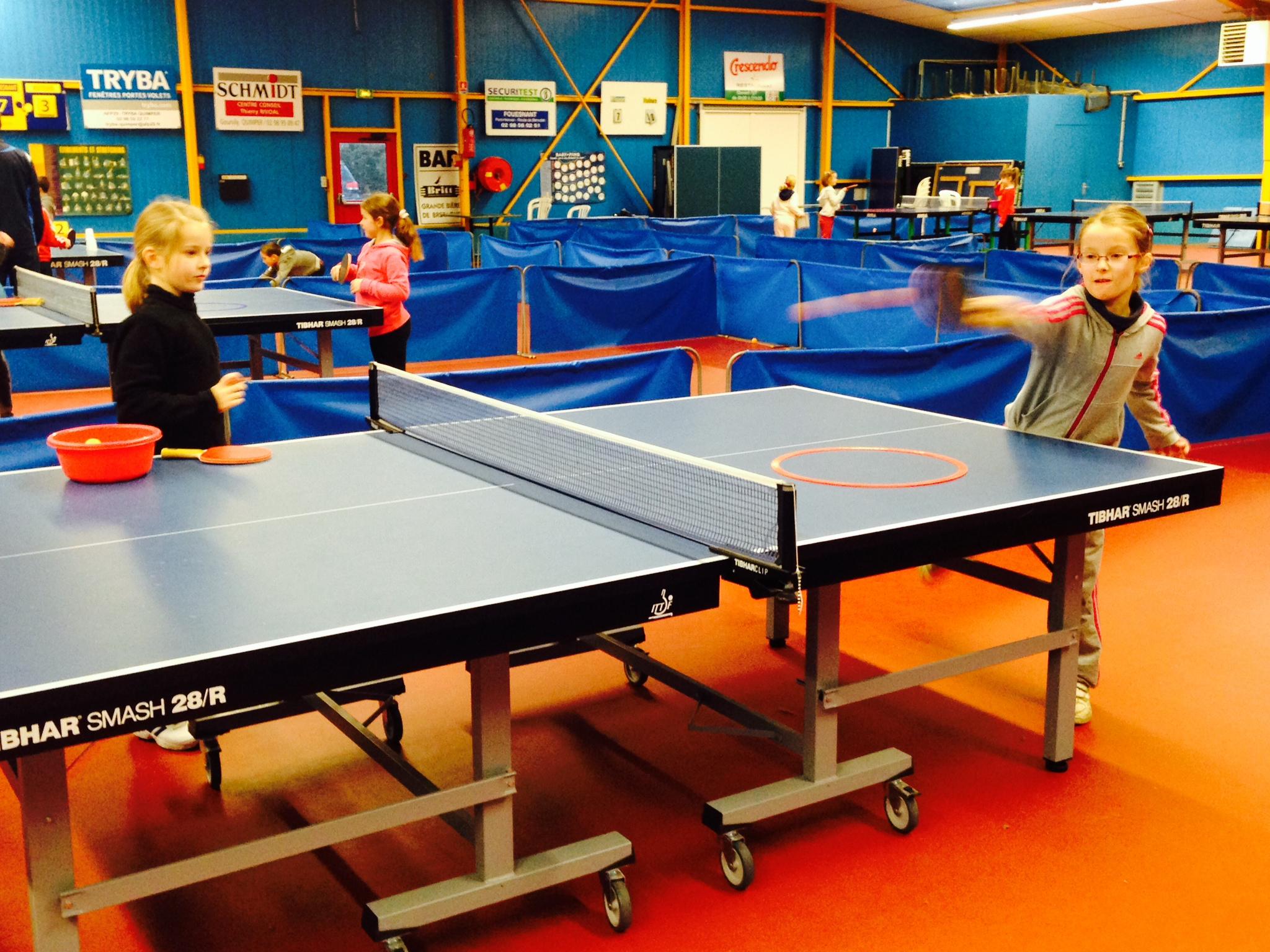 Initiation au tennis de table ecole notre dame fouesnant - Tennis de table poitou charente ...